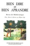 Robert Baudry - Bien Dire et Bien Aprandre N° 12 : Fées, dieux et déesses au Moyen Age.