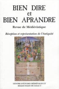 Aimé Petit - Bien Dire et Bien Aprandre N° 24 : Réception et représentation de l'Antiquité.