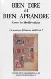 Catherine Gaullier-Bougassas - Bien Dire et Bien Aprandre N° 26 : Un exotisme littéraire médiéval ?.