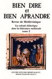 Auteurs divers - Bien Dire et Bien Aprandre N° 30, 4e trimestre  : La volonté didactique dans la littérature médiévale - Tome 2.
