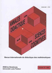 Alain Kuzniak - Annales de didactique et de sciences cognitives N° 12 : .