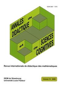 François Pluvinage - Annales de didactique et de sciences cognitives N° 13/2008 : .