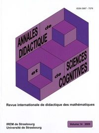 Alain Kuzniak - Annales de didactique et de sciences cognitives N° 14 : .