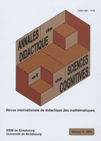 Alain Kuzniak - Annales de didactique et de sciences cognitives N° 15, 2010 : .