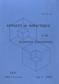 François Pluvinage - Annales de didactique et de sciences cognitives N° 6/1998 : .