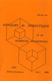 François Pluvinage - Annales de didactique et de sciences cognitives N° 7/2001 : .