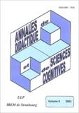 François Pluvinage et  Collectif - Annales de didactique et de sciences cognitives N° 8/2003 : .