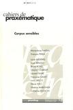Marie-Anne Paveau et François Perea - Cahiers de praxématique N° 59/2012 (2015) : Corpus sensibles.