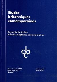 Stephen Ross - Etudes britanniques contemporaines N° 42, Juin 2012 : Le rien - Congrès de la SAES, Paris, mai 2011.