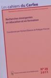 Richard Etienne et Philippe Prévost - Les cahiers du Cerfee N° 29/2011 : Recherches émergentes en éducation et formation.