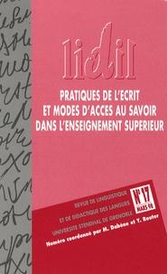 Michel Dabène et Yves Reuter - LIDIL N° 17, Mars 1998 : Pratiques de l'écrit et modes d'accès au savoir dans l'enseignement supérieur.