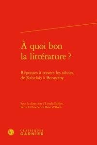 Ursula Bähler et Peter Fröhlicher - A quoi bon la littérature ?.