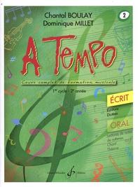 Chantal Boulay et Dominique Millet - A tempo - Ecrit Volume 2, 1er cycle (2e année).