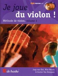 Jaap Van Elst et Wim Meuris - Je joue du violon ! - Méthode de violon volume 3. 2 CD audio