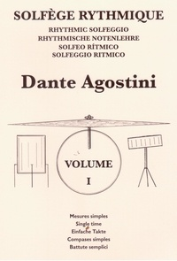 Dante Agostini - Solfège rythmique - Cahier N° 1.