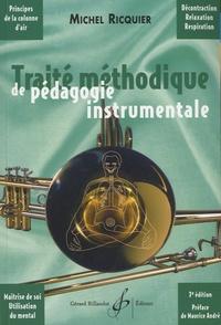 Michel Ricquier - Traité méthodique de pédagogie instrumentale - Principes physiologiques et psychologiques de la colonne d'air.