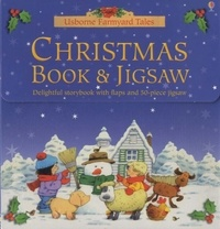Usborne - Christmas Book and Jigsaw - Delightful Storybook with Flaps and 50-piece jigsaw.