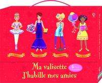 Usborne - Ma valisette j'habille mes amies - 4 livres d'autocollants : Vive la fête ! ; Les popstars ; Les actrices ; Les danseuses.