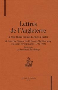 Deedr.fr Lettres de l'Angleterre à Jean Henri Samuel Formey à Berlin - De Jean Des Champs, David Durand, Matthieu Maty et d'autres correspondants (1737-1788) Image