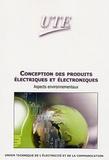UTE - Conception des produits électriques et électronique - Aspects environnementaux.