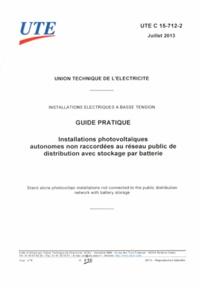 Téléchargement gratuit des fichiers ebook pdf Installations photovoltaïques autonomes non raccordées au réseau public dedistribution avec stockage par batterie  - Guide pratique par UTE (French Edition)  5552350630086