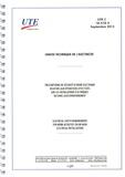 UTE - UTE C 18-510-3 - Prescriptions de sécurité d'ordre électrique relatives aux opérations effectuées sur les installations électriques ou dans leur environnement.