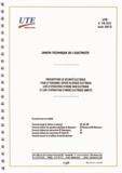UTE - UTE C 18-531 - Prescriptions de sécurité électrique pour le personnel exposé au risque électrique lors d'opérations d'ordre non électrique et lors d'opérations d'ordre électrique simples.