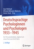 Uwe Wolfradt et Elfriede Billmann-Mahecha - Deutschsprachige psychologinnen und psychologen 1933-1945.