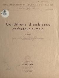V. Broïda - Conditions d'ambiance et facteur humain.