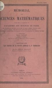 Václav Hlavatý et  Académie des sciences de Paris - Les courbes de la variété générale à n dimensions.