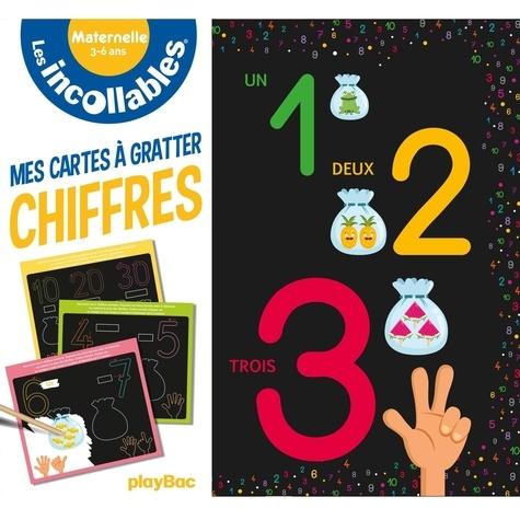 Vaïnui de Castelbajac - Mes cartes à gratter chiffres - Maternelle. Avec un bâtonnet.