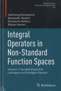Vakhtang Kokilashvili et Alexander Meskhi - Integral Operators in Non-Standard Function Spaces - Volume 1: Variable Exponent Lebesgue and Amalgam Spaces.