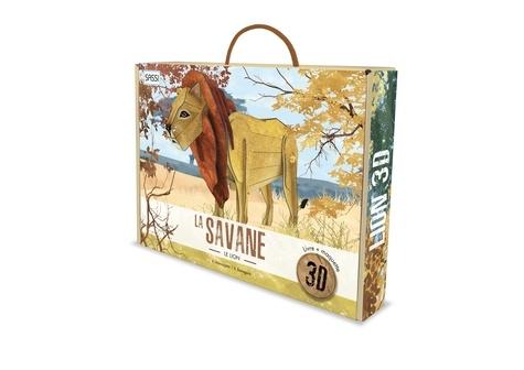 La savane. Le lion. Livre + maquette 3D