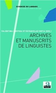 Valentina Chepiga et Estanislao Sofia - Archives et manuscrits de linguistes.
