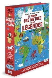 Valentina Facci et Michela Ceron - Le monde des mythes et légendes - Coffret avec un puzzle de 200 pièces et 10 silhouettes à emboîter.
