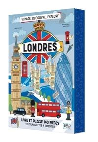 Valentina Facci et Matteo Gaule - Londres - Livre et puzzle 140 pièces + 10 silhouettes à emboîter.