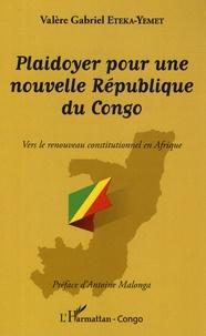 Histoiresdenlire.be Plaidoyer pour une nouvelle République du Congo - Vers le renouveau constitutionnel en Afrique Image