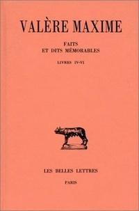 Valère Maxime - Faits et dits mémorables - Tome 2, Livres IV-VI.