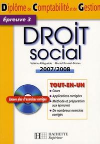 Valérie Alléguède et Muriel Brosset-Bories - Droit social DCG Epreuve 3. 1 Cédérom