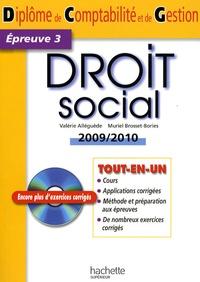 Deedr.fr Droit social - Diplôme de comptabilité et de gestion, épreuve 3 Image
