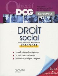 Valérie Alléguède et Muriel Brosset-Bories - Droit social - Epreuve 3 du DCG.