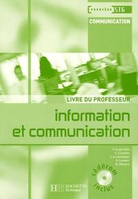 Valérie Alléguède et Carine Courtès-Lapeyrat - Information et communication 1e STG - Livre du professeur. 1 Cédérom
