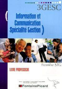 Valérie Barruet et Christine Charles - Information et Communication 1e STG spécialité gestion - Livre du professeur. 1 Cédérom