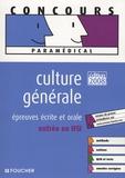 Valérie Béal et Marie Péan - Culture générale - Epreuves écrite et orale, entrée en IFSI.