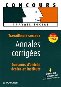 Deedr.fr Travailleurs sociaux, concours d'entrée en école et en institut - Annales corrigées Image