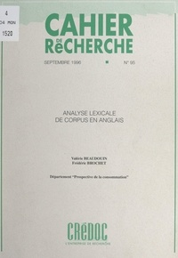 Valérie Beaudouin et Frédéric Brochet - Analyse lexicale de corpus en anglais.