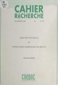Valérie Beaudouin et  Département prospective de la - Analyse textuelle et structures narratives de récits.