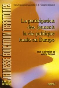 Valérie Becquet - La participation des jeunes à la vie publique locale en Europe.