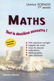 Valérie Collet - Maths Licence sciences 1ère année - Tout le deuxième semestre !.