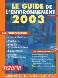 Goodtastepolice.fr Le guide de l'environnement 2003. - 4ème édition Image